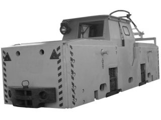 Electric mine locomotive